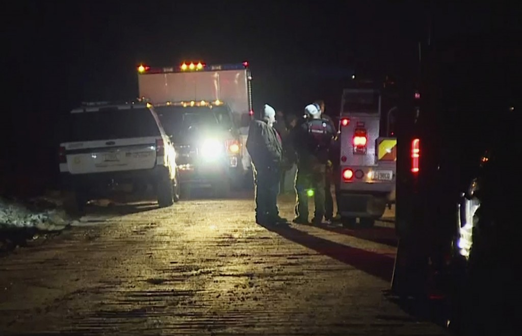 In this image made from Friday, Nov. 29, 2019, video provided by KNXV-TV, emergency personnel and law enforcement members gather while searching peopl...