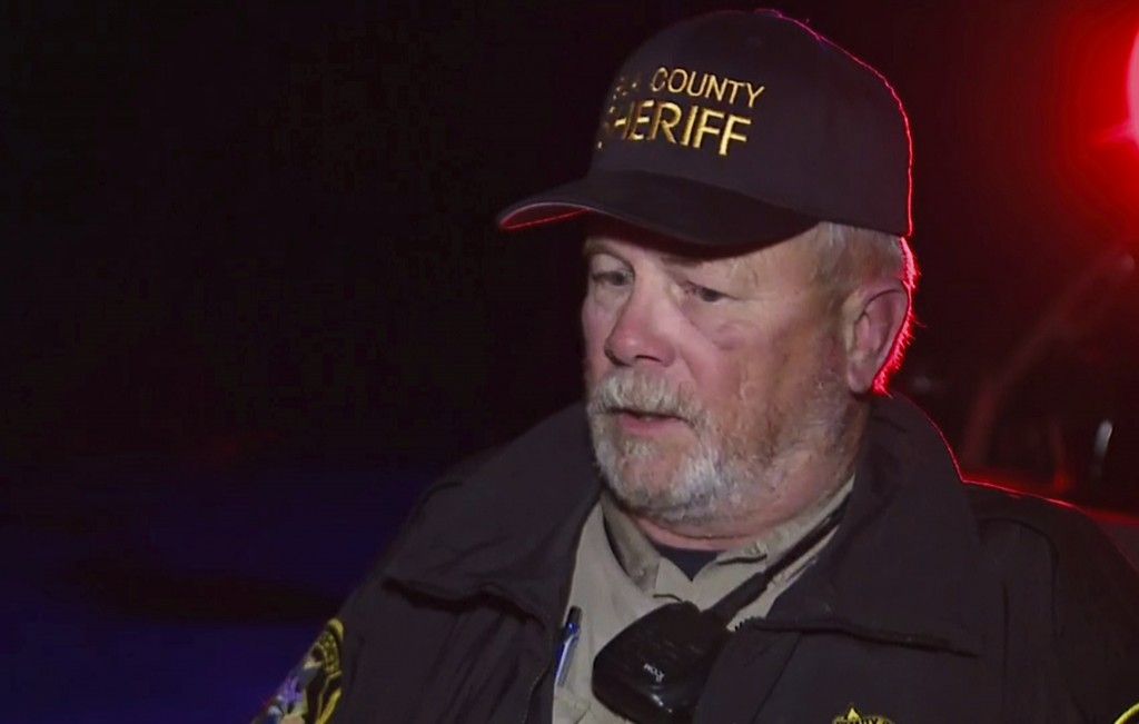 In this image made from Friday, Nov. 29, 2019, video provided by KNXV-TV, Gila County Sheriff's Office Deputy Phil Smith speaks in Tonto Basin, northe...