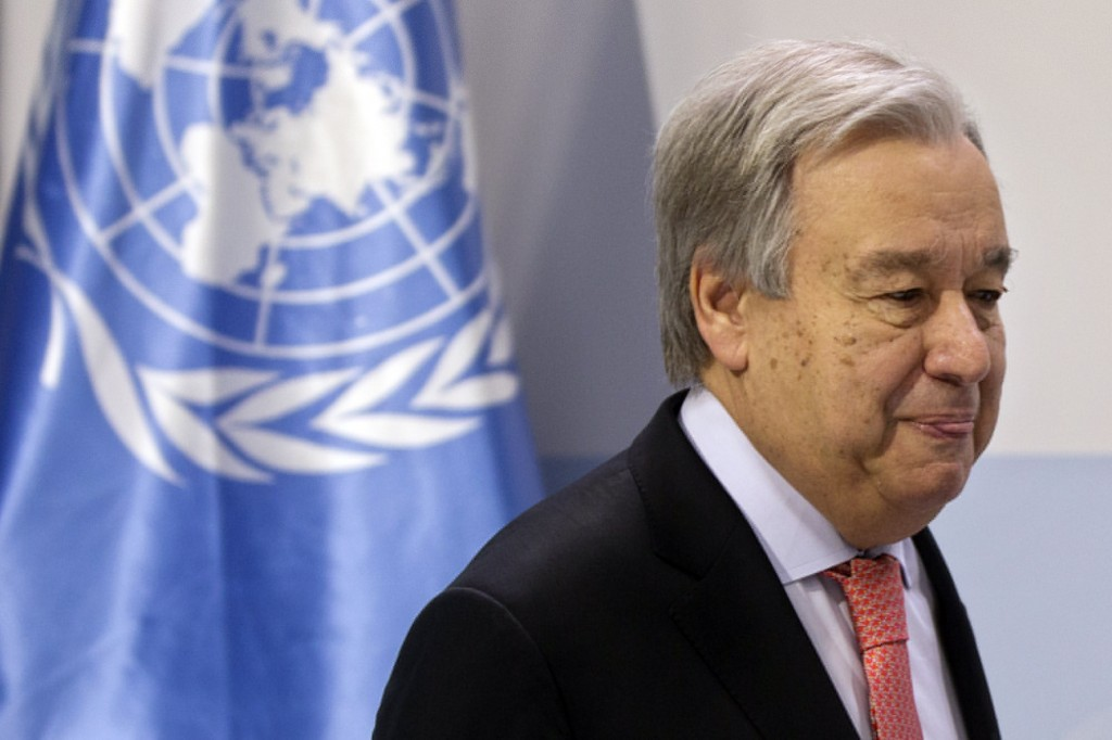 U.N. chief urges countries not to surrender on climate fight