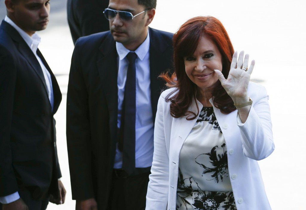 Elected vice president Cristina Fernandez de Kirchner arrives to court in Buenos Aires, Argentina, Monday, Dec. 2, 2019. Fernandez is appearing before...