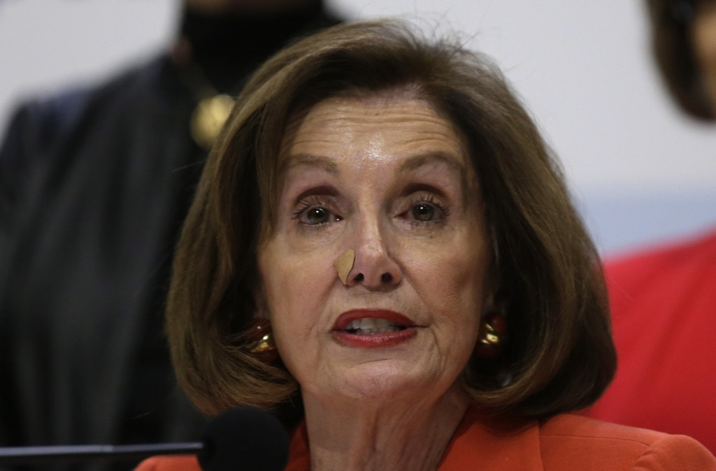 House Speaker Nancy Pelosi of Calif. speaks during a press conference at the COP25 climate talks summit in Madrid, Monday Dec. 2, 2019. The chair of a...