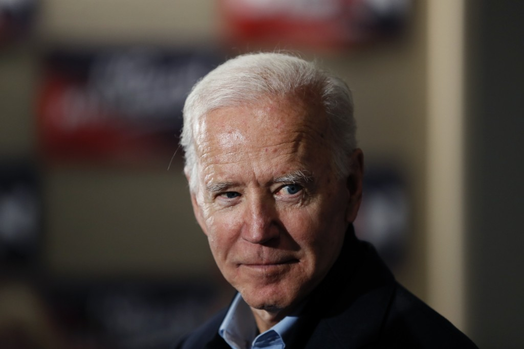 Democratic presidential candidate and former Vice President Joe Biden speaks during a meeting with local residents at Buena Vista University, Sunday, ...