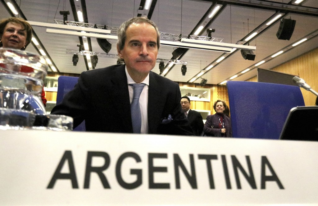 The designated director general of International Atomic Energy Agency, IAEA, Rafael Mariano Grossi from Argentina, waits for the start for general con...