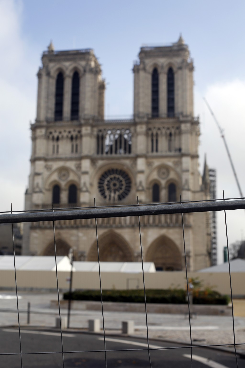 Notre Dame Cathedral during renovations in Paris, Tuesday, Dec. 03, 2019. The board of trustees of the new public body overseeing the construction of ...