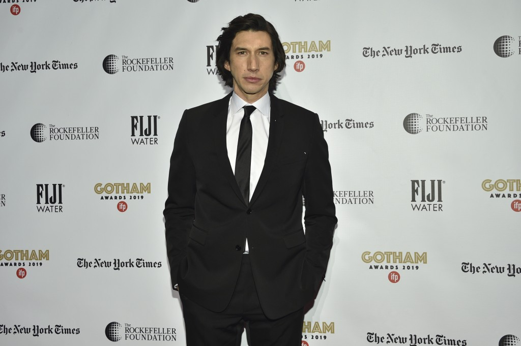 Adam Driver attends the Independent Filmmaker Project's 29th annual IFP Gotham Awards at Cipriani Wall Street on Monday Dec. 2, 2019, in New York. (Ph...