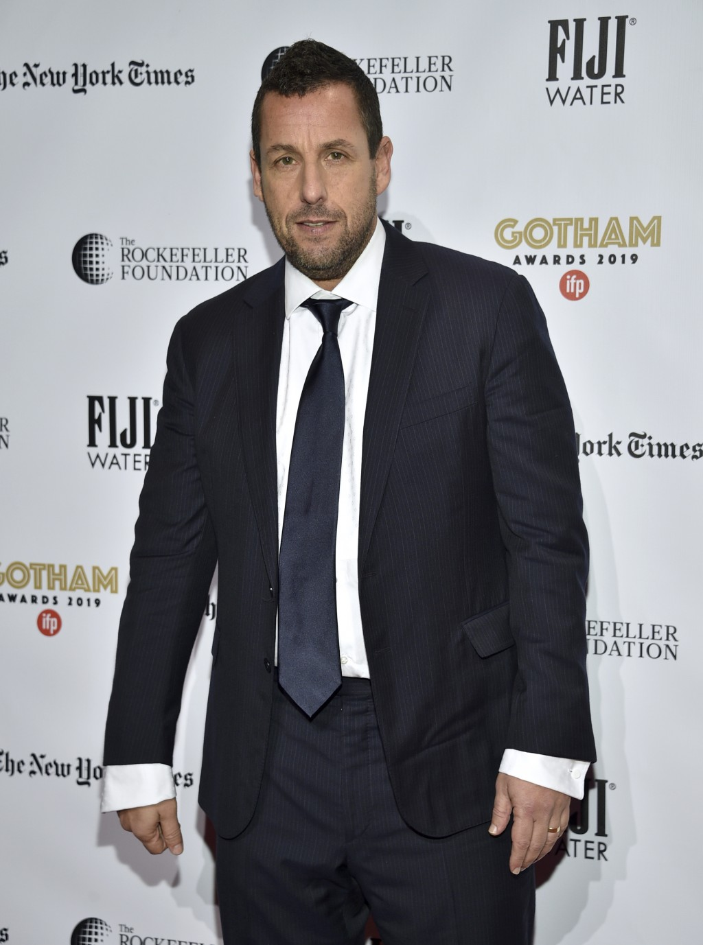 Adam Sandler attends the Independent Filmmaker Project's 29th annual IFP Gotham Awards at Cipriani Wall Street on Monday Dec. 2, 2019, in New York. (P...