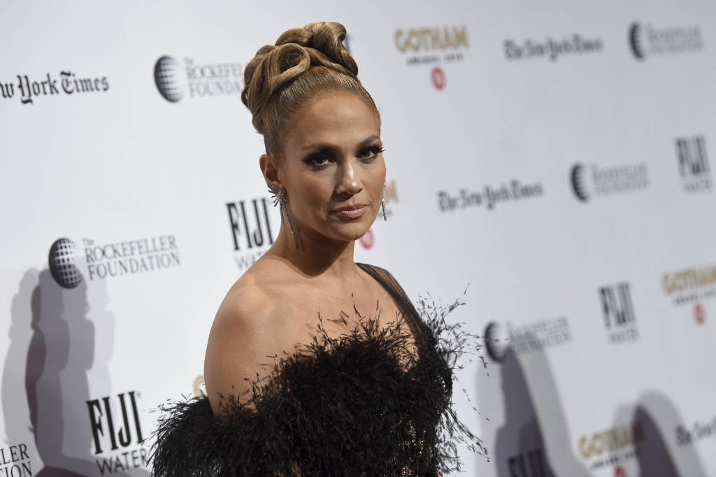 Jennifer Lopez attends the Independent Filmmaker Project's 29th annual IFP Gotham Awards at Cipriani Wall Street on Monday Dec. 2, 2019, in New York. ...