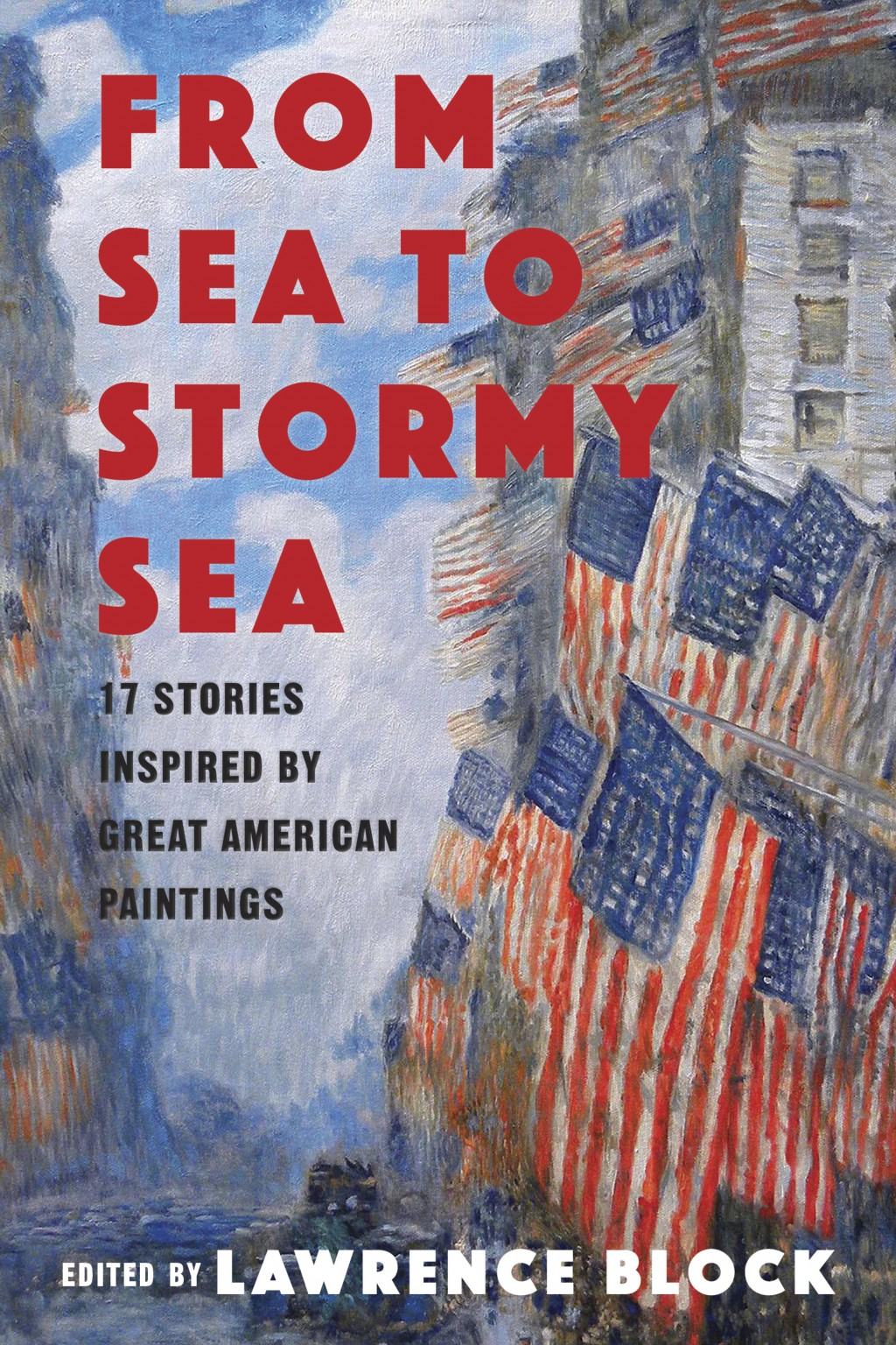 "This cover image released by Pegasus Books shows ""From Sea to Stormy Sea: 17 Stories Inspired by Great American Paintings ,"" edited by Lawrence Block...."