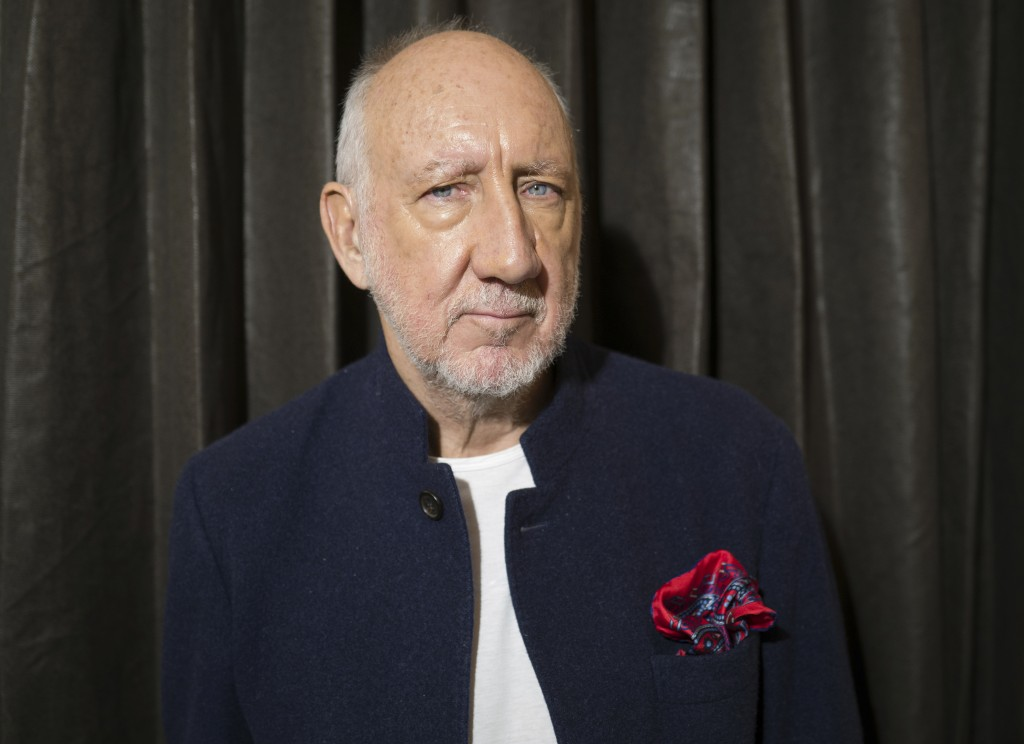 """This Oct. 31, 2019 photo shows author-singer Pete Townshend posing for a portrait in New York to promote his debut novel """"The Age of Anxiety."""" Townshe..."""