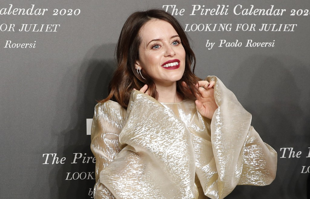 British actress Claire Foy poses for photographers at the 2020 Pirelli Calendar event in Verona, Italy, Tuesday, Dec. 3, 2019. (AP Photo/Antonio Calan...