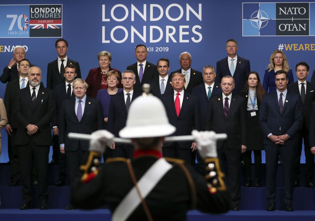 NATO heads of state attend a ceremony event during a NATO leaders meeting at The Grove hotel and resort in Watford, Hertfordshire, England, Wednesday,...
