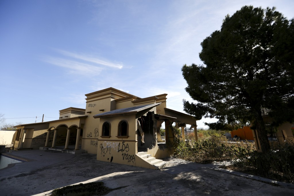 A view of a home torched by the Zetas cartel eight years back, in Allende, Coahuila state, Mexico, Tuesday, Dec. 3, 2019. In an act of revenge cartel ...