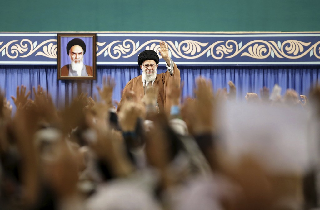 FILE - In this Nov. 27, 2019, file photo released by the official website of the office of the Iranian supreme leader, Supreme Leader Ayatollah Ali Kh...