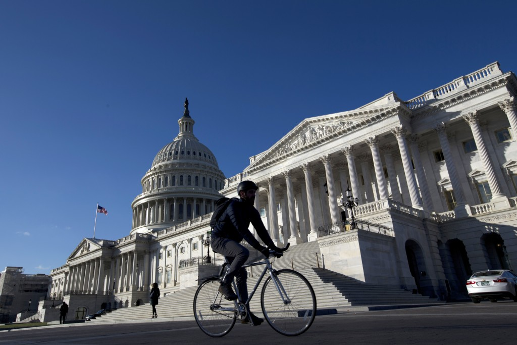 The U.S. Capitol is seen Thursday morning, Dec. 5, 2019, in Washington. House Speaker Nancy Pelosi announced Thursday that the House is moving forward...