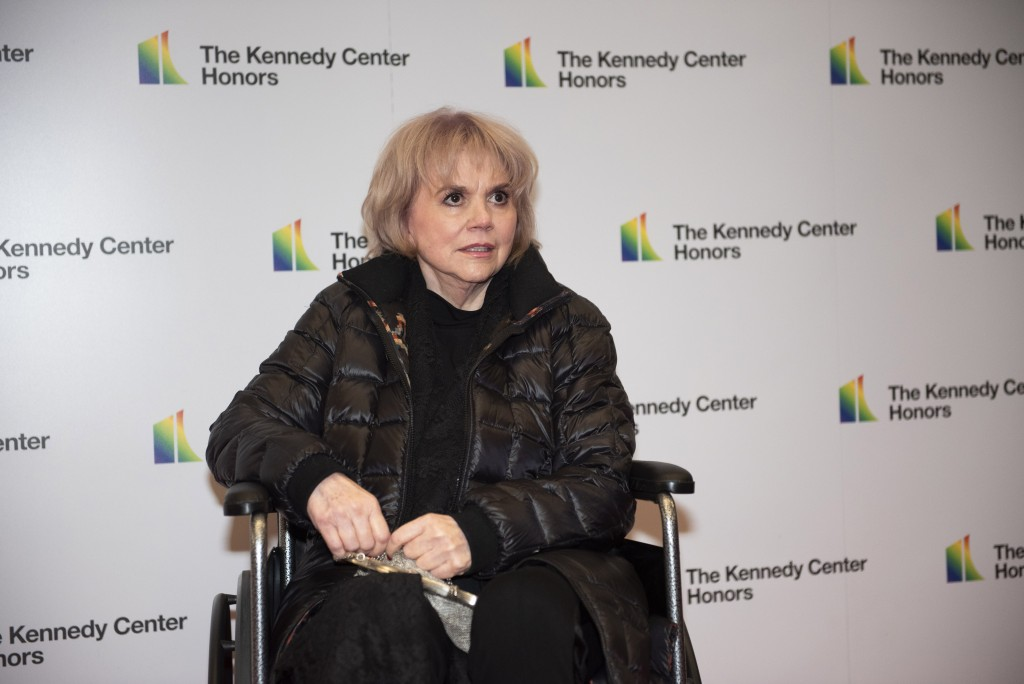 2019 Kennedy Center Honoree singer Linda Ronstadt arrives at the State Department for the Kennedy Center Honors State Department Dinner on Saturday, D...