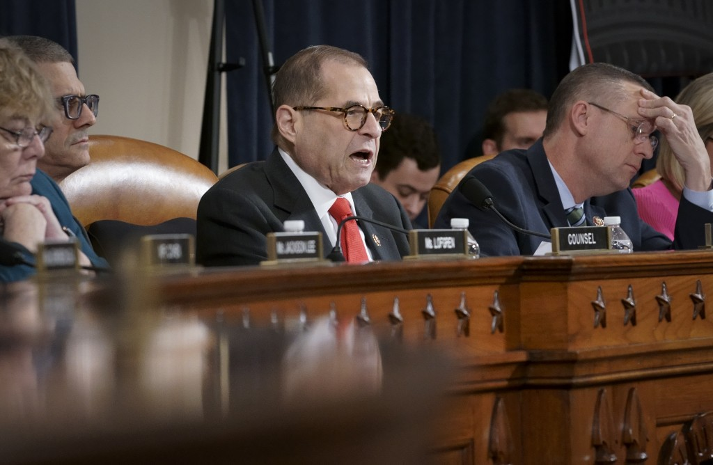 House Judiciary Committee Chairman Jerrold Nadler, D-N.Y., joined at right by Rep. Doug Collins, R-Ga., the ranking member, convenes the panel to hear...