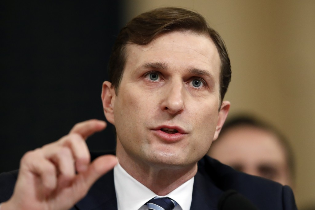 Democratic staff attorney Daniel Goldman testifies as the House Judiciary Committee hears investigative findings in the impeachment inquiry of Preside...