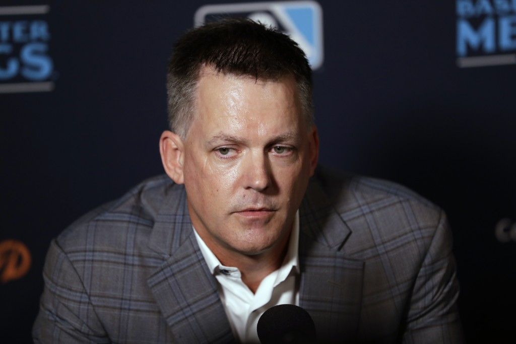 Houston Astros manager A.J. Hinch speaks during the Major League Baseball winter meetings, Tuesday, Dec. 10, 2019, in San Diego. (AP Photo/Gregory Bul...