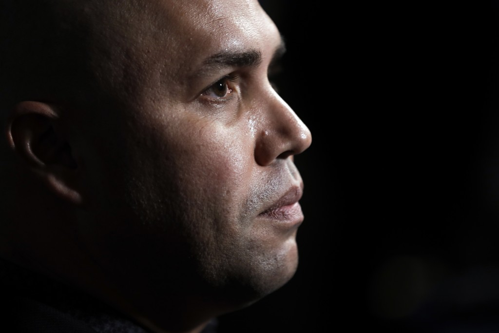 New York Mets manager Carlos Beltran listens to a question during the Major League Baseball winter meetings, Tuesday, Dec. 10, 2019, in San Diego. (AP...