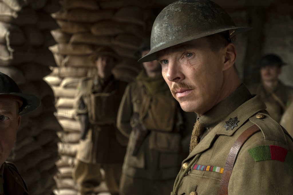 "This image released by Universal Pictures shows Benedict Cumberbatch as Colonel Mackenzie in a scene from ""1917,"" directed by Sam Mendes. (François Du..."