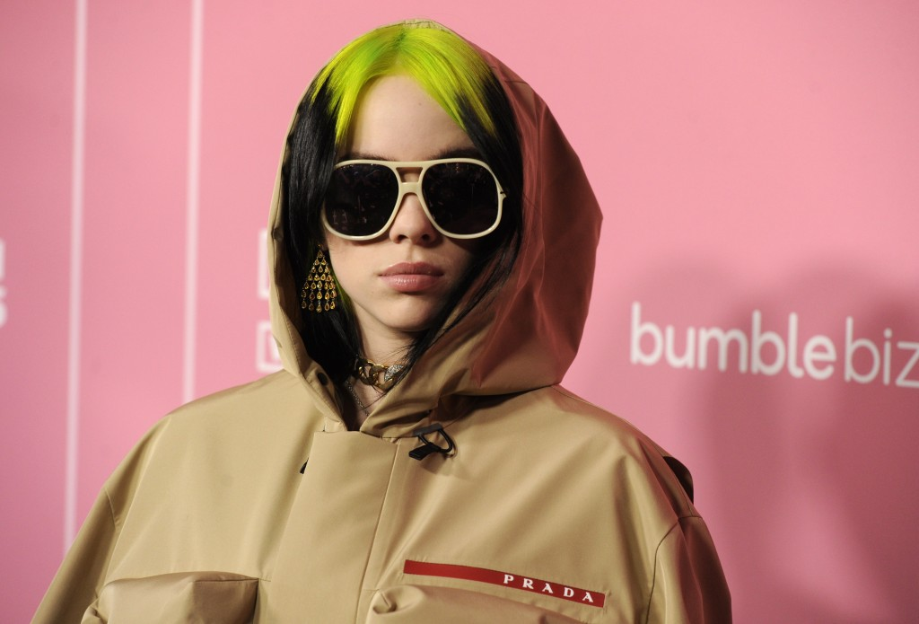 Billie Eilish arrives at Billboard's Women in Music at the Hollywood Palladium on Thursday, Dec. 12, 2019, in Los Angeles. (AP Photo/Chris Pizzello)