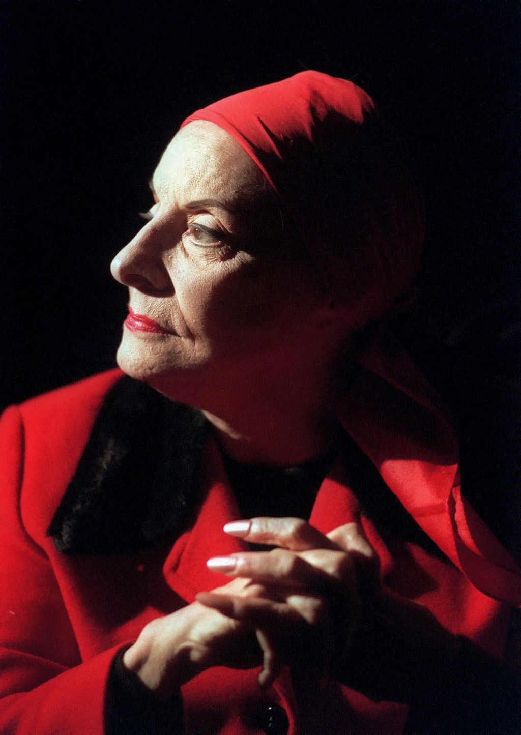 FILE - In this Jan. 27, 1998, file photo, Alicia Alonso, founder of the Ballet Nacional de Cuba, listens during an interview in New York. Cuba's natio...