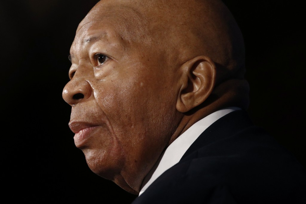 FILE - In this Aug. 7, 2019, file photo, Rep. Elijah Cummings, D-Md., speaks during a luncheon at the National Press Club in Washington. Cummings died...