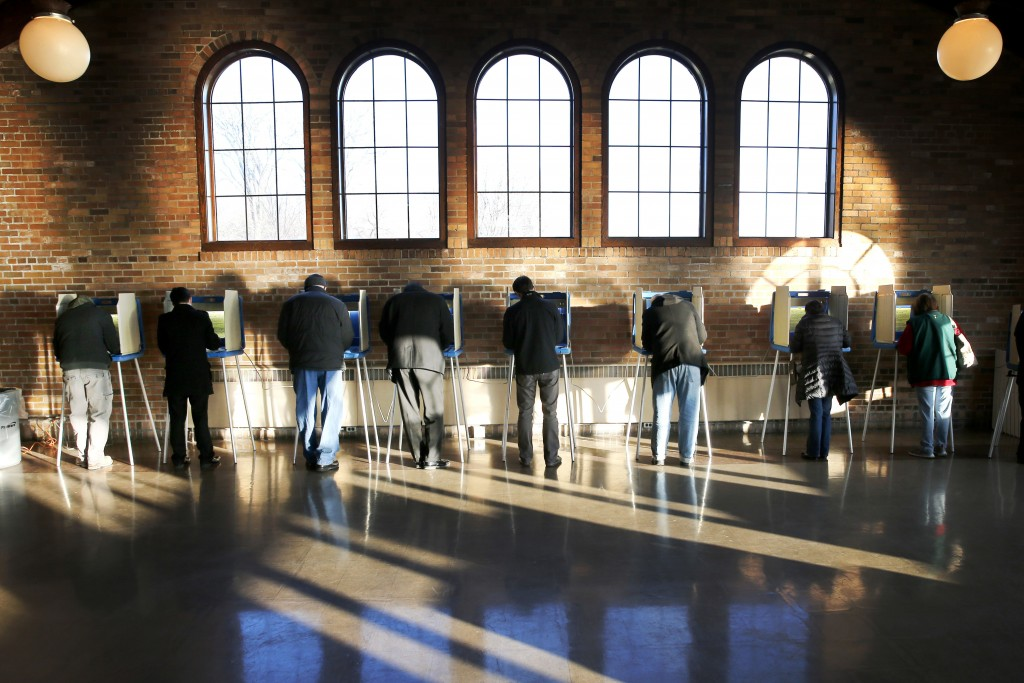 FILE - In this April 5, 2016, file photo, Wisconsin voters cast their ballots in the state's primary at the South Shore Park Pavilion in Milwaukee. A ...