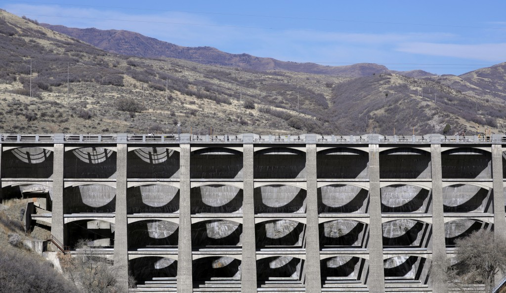 FILE - This Nov. 7, 2019, photo shows the Mountain Dell Dam, east of Salt Lake City. U.S. Sen. Kirsten Gillibrand, D-N.Y., is proposing Tuesday, Dec. ...