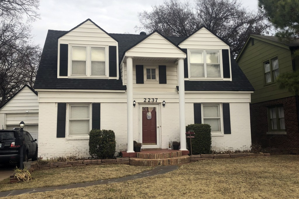 Elizabeth Warren's onetime family home in Oklahoma City, Monday, Dec. 9, 2019. Warren lived in this home on NW 25th Street in Oklahoma City from when ...