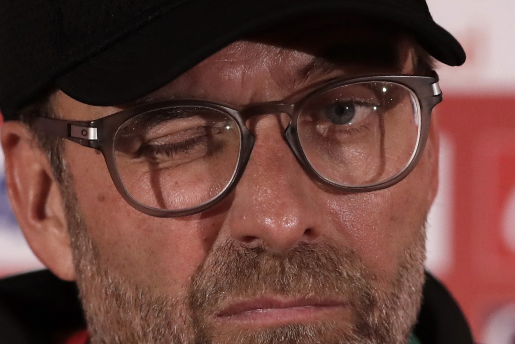 Liverpool's manager Jurgen Klopp speaks during a press conference in Doha, Qatar, Friday, Dec. 20, 2019. Liverpool will play the Club World Cup final ...