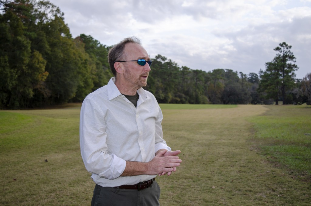 Jeffrey Shanks, an archaeologist with the National Park Service, visits an unmarked slave cemetery on Dec. 16, 2019, at the Capital City Country Club ...
