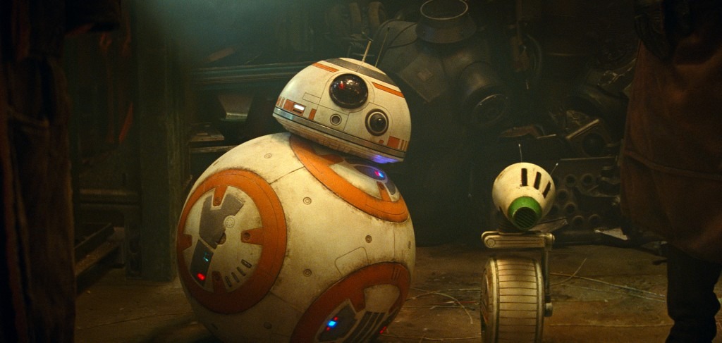 "This image released by Lucasfilm shows droids BB-8, left, and D-O in a scene from ""Star Wars: The Rise of Skywalker."" (Lucasfilm via AP)"