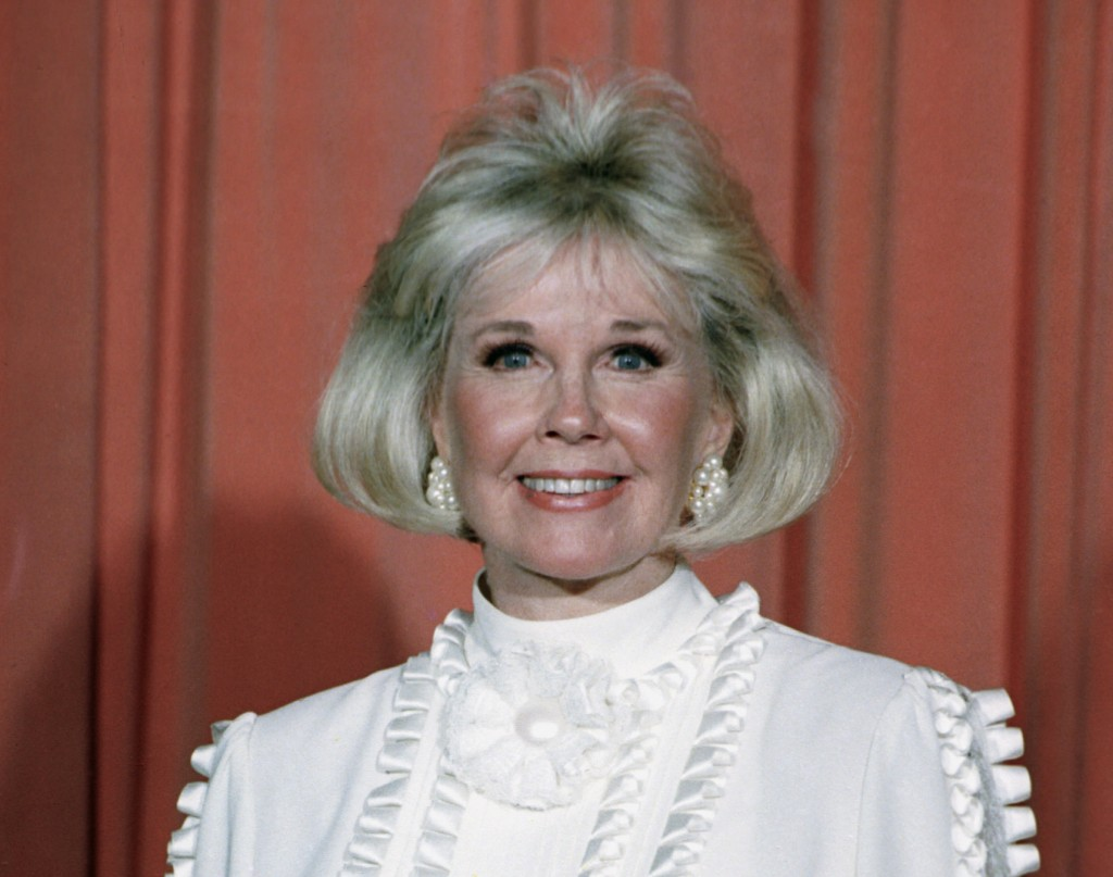FILE - In this Jan. 28, 1989 file photo, actress and animal rights activist Doris Day poses for photos after receiving the Cecil B. DeMille Award she ...