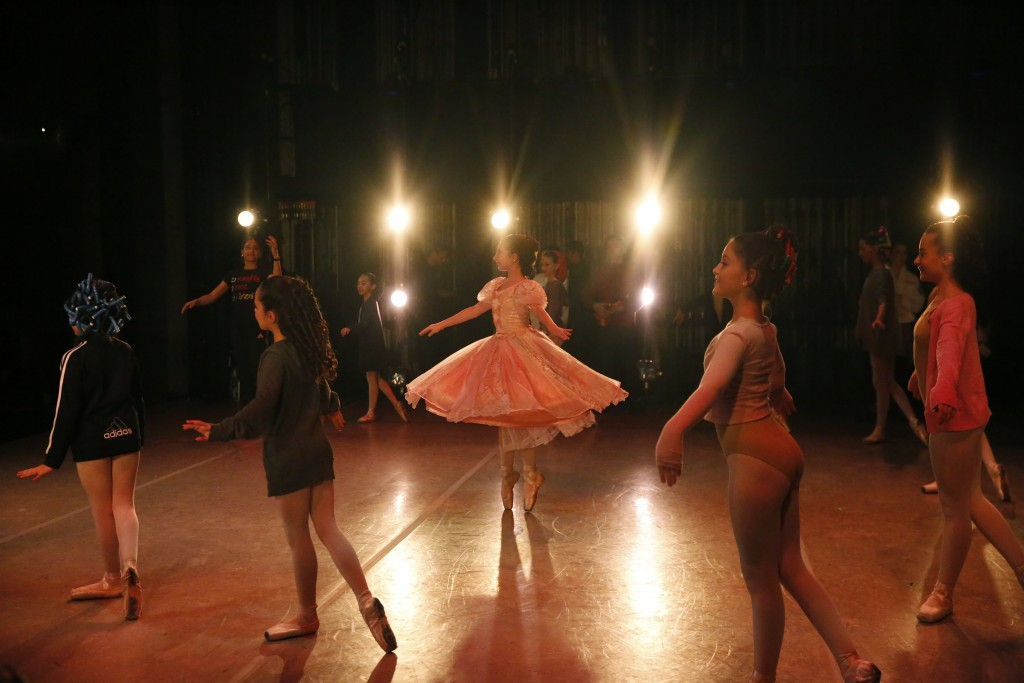 Young dancers perform on stage during a rehearsal of Vladimir Issaev's rendition of The Nutcracker ballet on Friday, Dec. 13, 2019, in Fort Lauderdale...