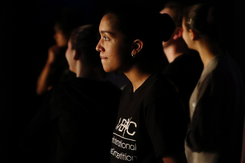 Paola Nava, 17, watches backstage during a rehearsal of Vladimir Issaev's rendition of The Nutcracker ballet on Friday, Dec. 13, 2019, in Fort Lauderd...