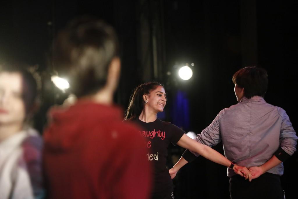 Dancer Lusian Hernandez, dances during a rehearsal of Vladimir Issaev's rendition of The Nutcracker ballet on Friday, Dec. 13, 2019, in Fort Lauderdal...