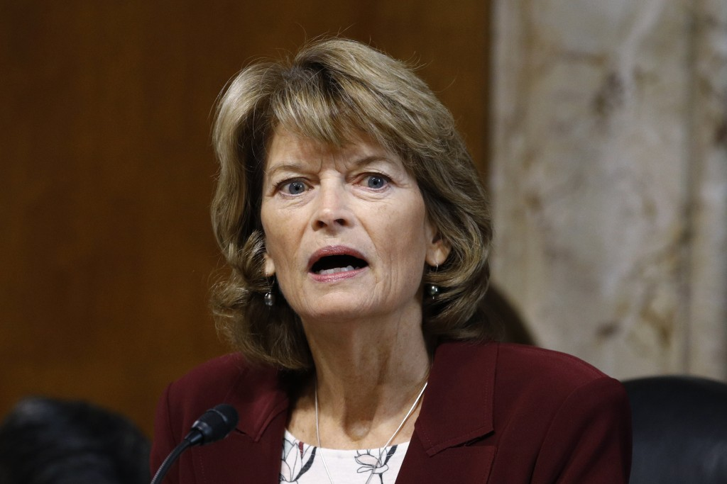 FILE - In this Dec. 19, 2019 file photo, Sen. Lisa Murkowski, R-Alaska, chair of the Senate Energy and Natural Resources Committee, speaks during a he...