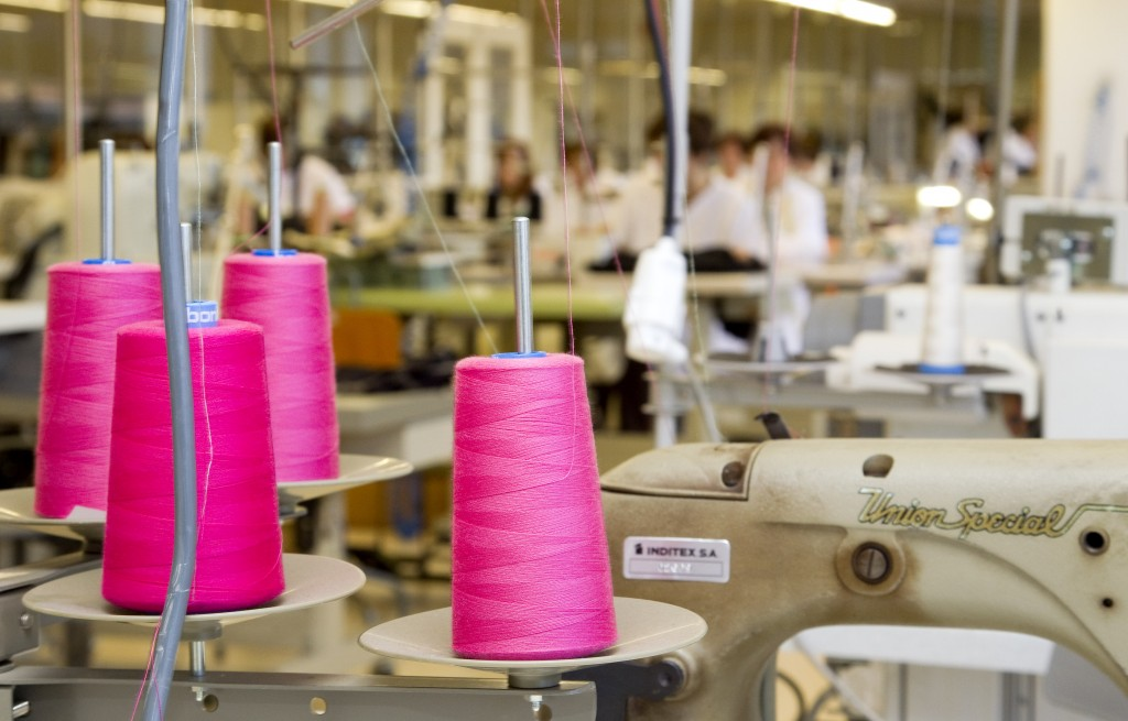 FILE - This April 10, 2012 file photo shows the production department at fashion giant Inditex's headquarters where Zara fashion garments are designed...