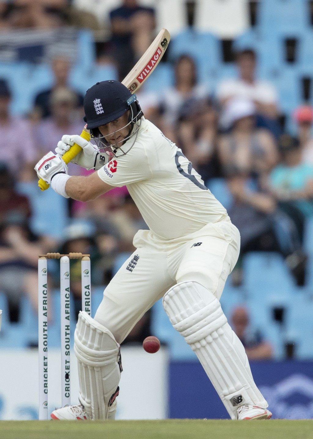 England's captain Joe Root bats on day four of the first cricket test match between South Africa and England at Centurion Park, Pretoria, South Africa...