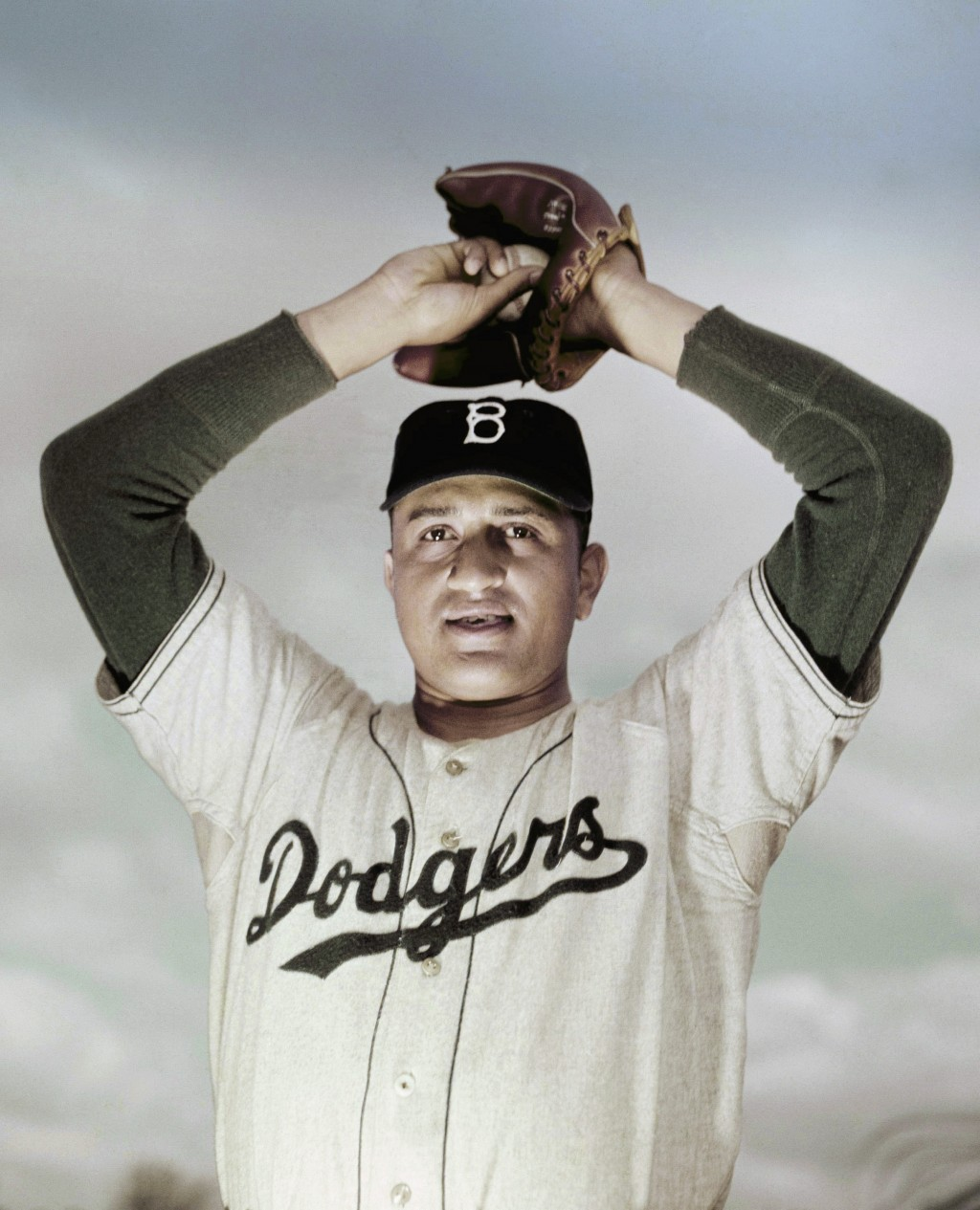 FILE - This is a March 1951, file photo showing Brooklyn Dodgers pitcher Don Newcombe. Newcombe, the hard-throwing Brooklyn Dodgers pitcher who was on...