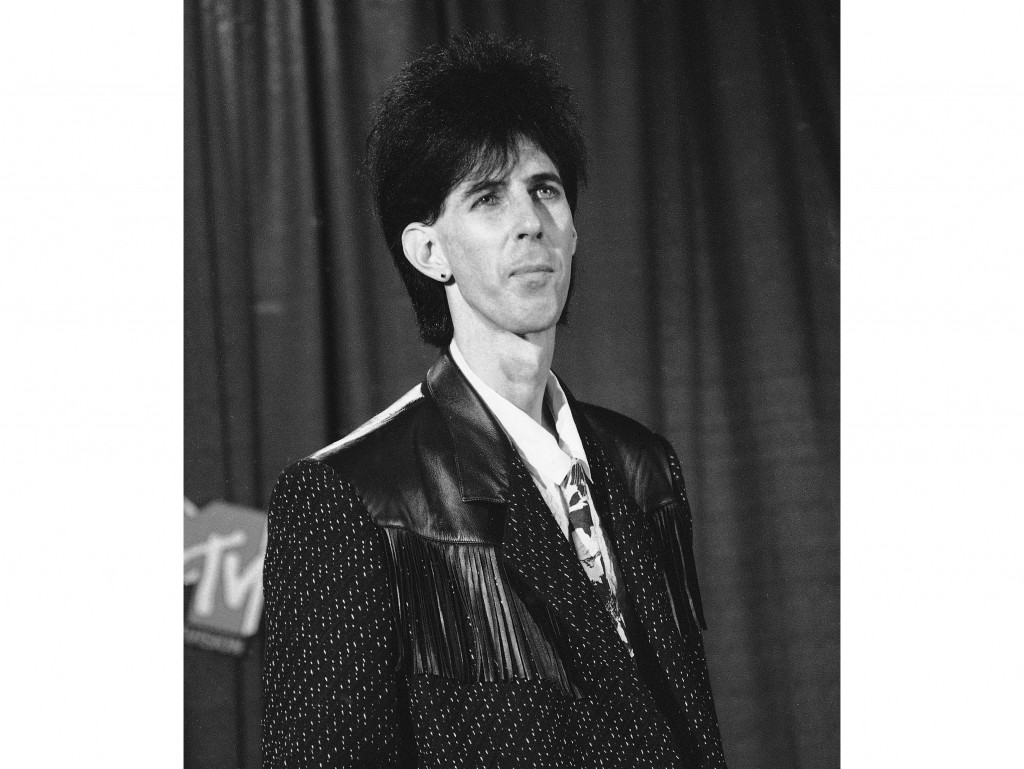 Musician Ric Ocasek, of the group The Cars, appears at the MTV Video Music Awards in New York on Sept. 14, 1984. The Cars frontman whose deadpan vocal...