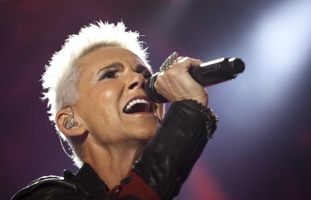 Marie Fredriksson of the Swedish Pop band Roxette performs during a concert in Rio de Janeiro, Brazil on April 16, 2011. Fredriksson, who sang many hi...