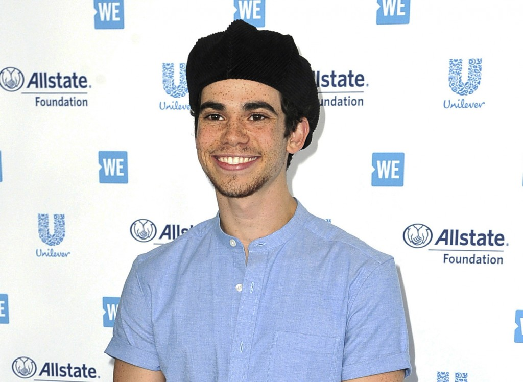 Actor Cameron Boyce appears at WE Day California in Inglewood, Calif., on April 25, 2019. Boyce died unexpectedly from epilepsy on July 6. He was 20. ...