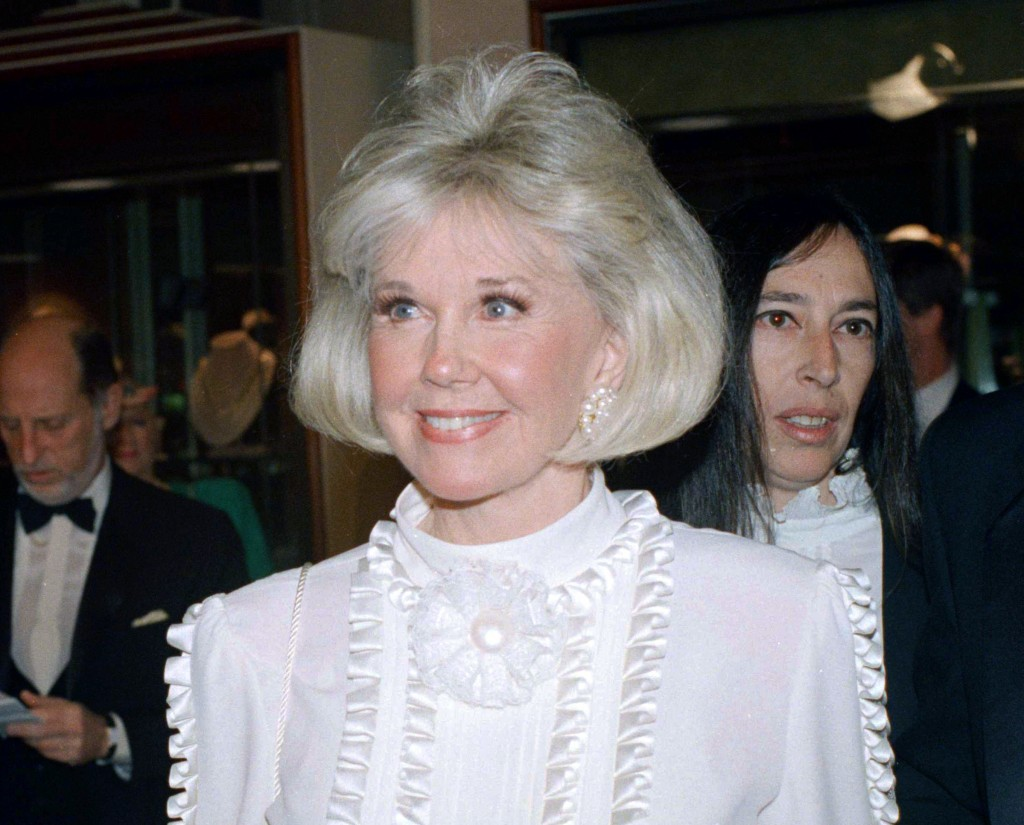 Singer-actress Doris Day, Cecil B. DeMille Award recipient, appears at the annual Golden Globe Awards in Los Angeles. Day, who stood for the 1950s ide...