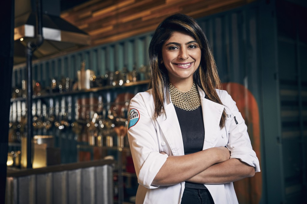 """This photo released by Bravo shows cooking contestant Fatima Ali during season 15 of the competition series, """"Top Chef,"""" on May 9, 2017. Ali died of c..."""