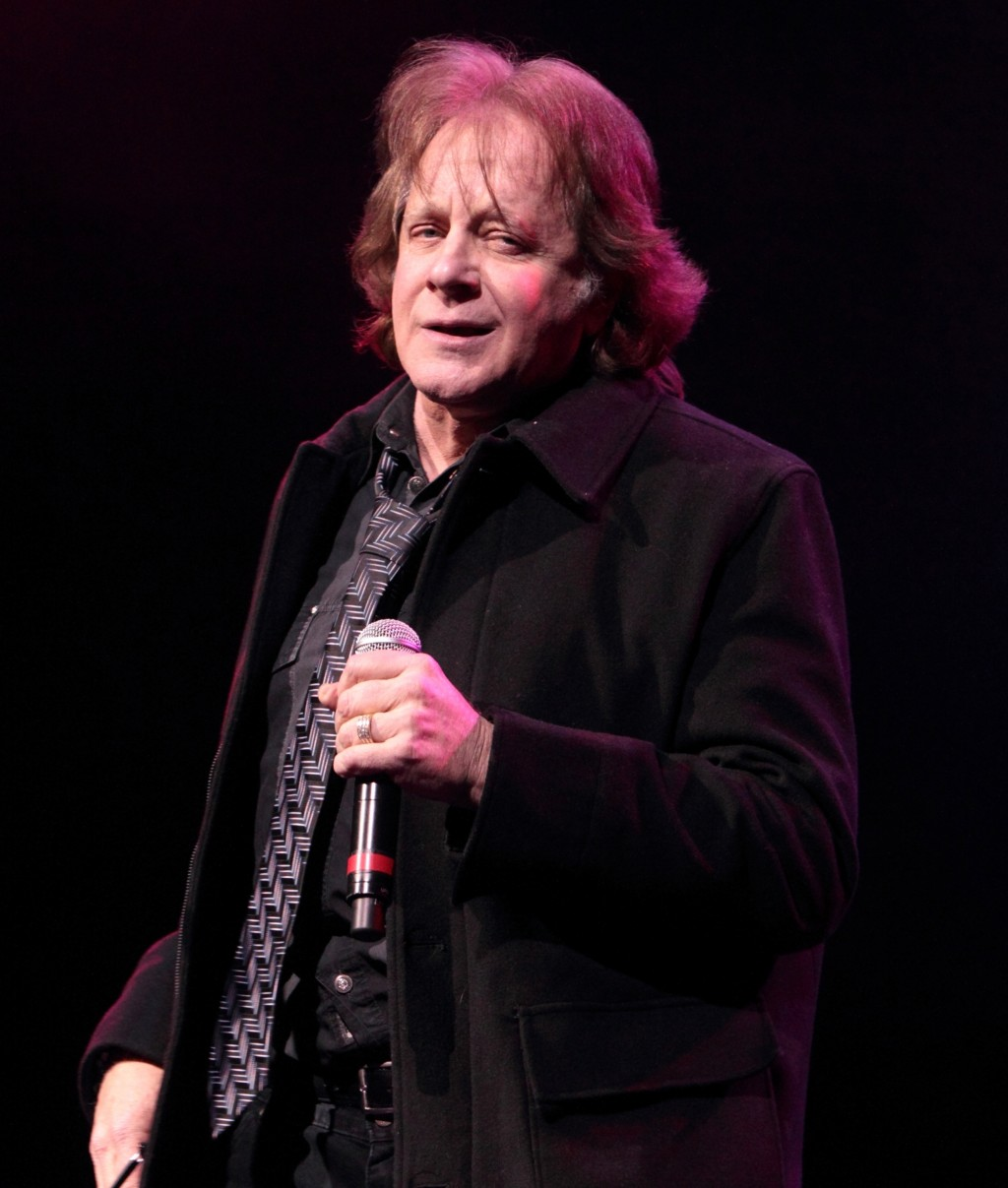"""Musician Eddie Money performs at the American Music Theatre in Lancaster, Pa., on Jan. 31, 2013. The rock star known for such hits as """"Two Tickets to ..."""