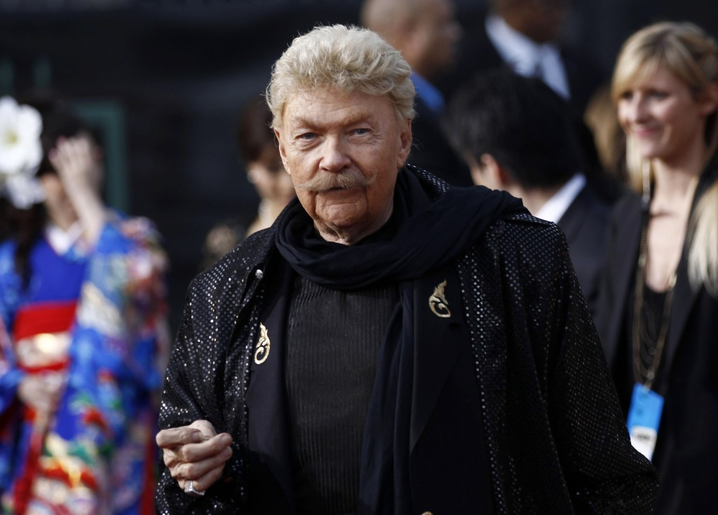 Rip Taylor arrives at the 16th Annual Critics' Choice Movie Awards in Los Angeles on Jan. 14, 2011. Taylor, the madcap, mustached comedian who became ...