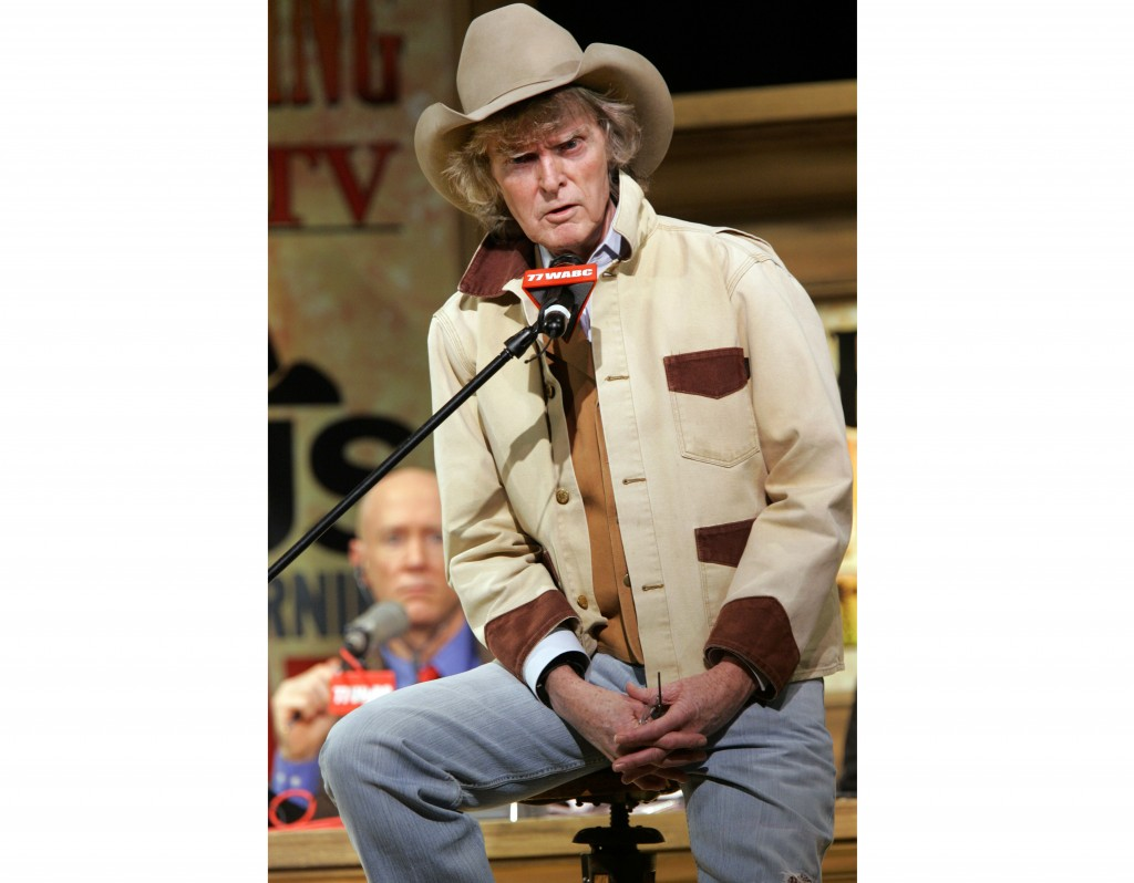 Radio personality Don Imus speaks at Town Hall in New York on Dec. 3, 2007.  Imus, whose career was made and then undone by his acid tongue after a de...