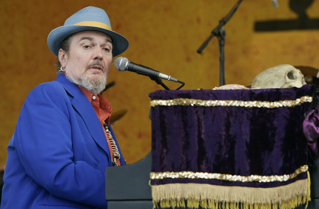 Dr. John performs during the New Orleans Jazz and Heritage Festival on April 28, 2006. The New Orleans singer and piano player died on June 6 at age 7...